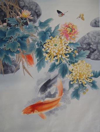 Peces de colores cuaderno de retazos for Como criar peces koi