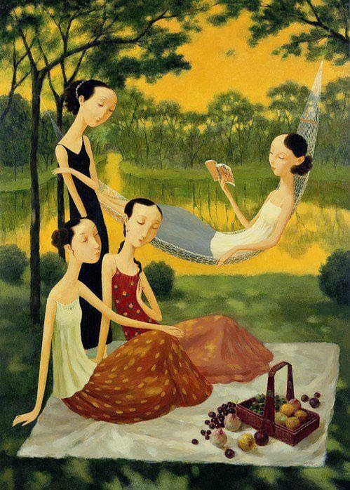Shuai-Mei-Contemporary-Chinese-Artist-Chinese-Women-in-Painting (10)