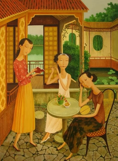 Shuai-Mei-Contemporary-Chinese-Artist-Chinese-Women-in-Painting (9)