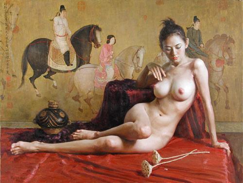 Tubo de arte desnudo muy joven