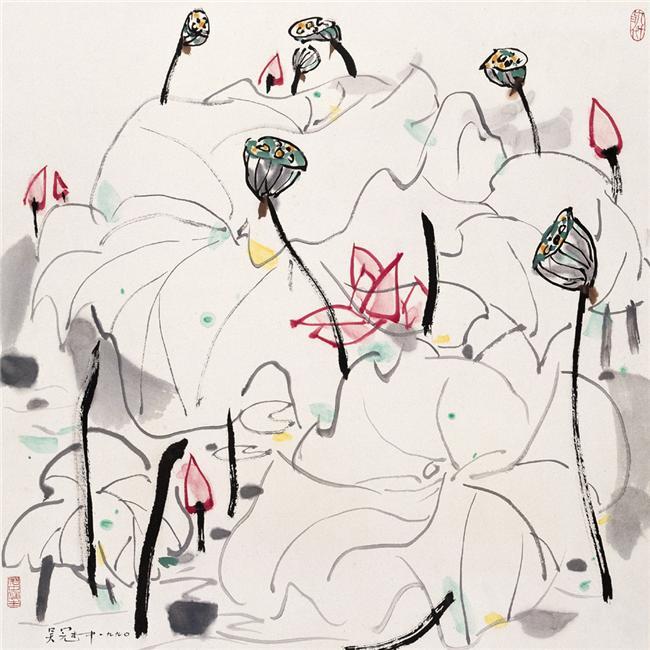 Resultado de imagen para Pinturas de Wu Guanzhong