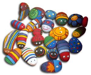 Proyecto Craft Pintar Piedras Cuaderno De Retazos - Dibujos-para-pintar-piedras