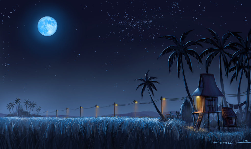 Kampung_Nightscape_by_bramLeech
