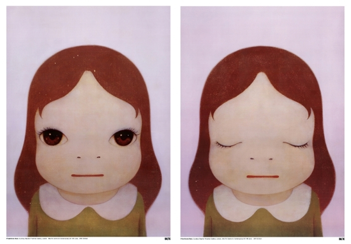 yoshitomo-nara-cosmic-girl-eyes-open-eyes-shut-2-works-prints-and-multiples-offset-lithograph-zoom