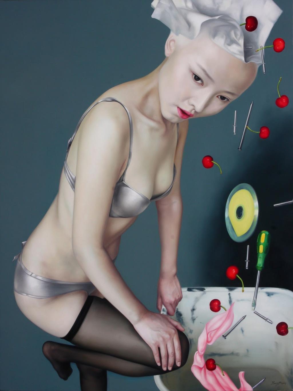 He Hongbei_ paintings _ China _ figurative (19)