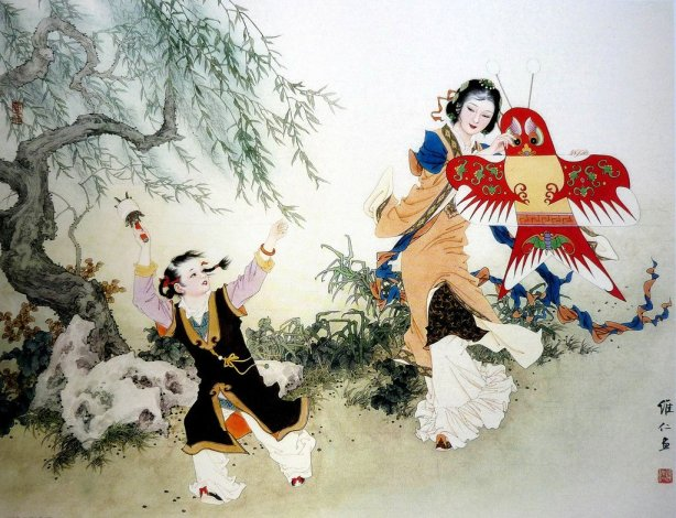 mujeres en la pintura china05