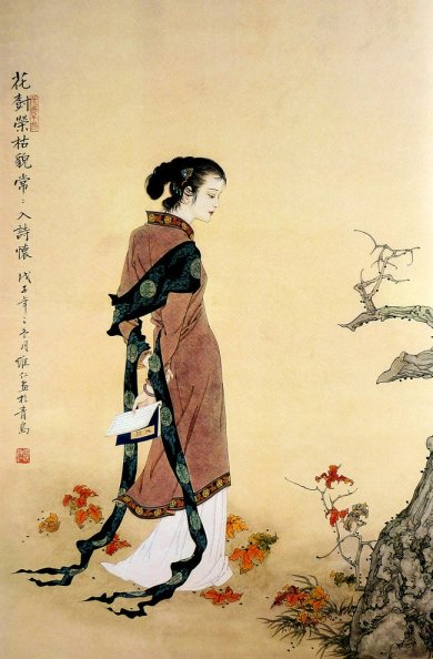 mujeres en la pintura china06