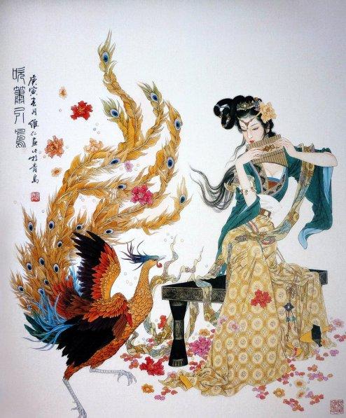 mujeres en la pintura china08