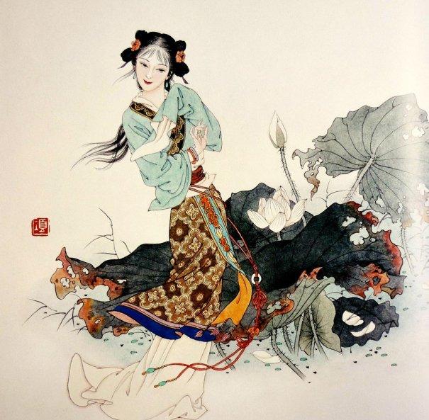 mujeres en la pintura china13