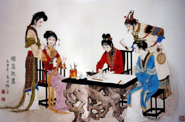 mujeres en la pintura china19