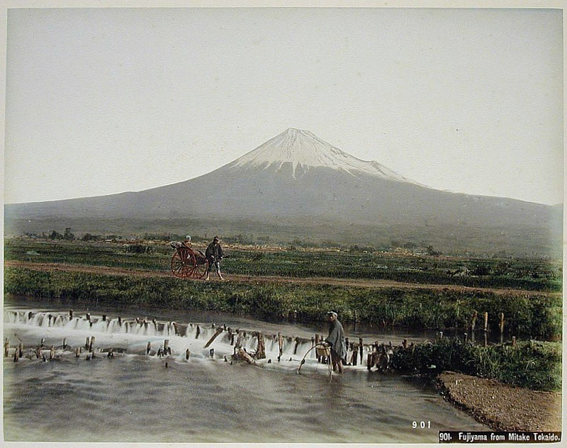 05-Kusakabe, Kimbei, Fujiyama from Mitake Tokaido,, [1860 - ca. 1900], Henry and Nancy Rosin Collection of Early Photography of Japan