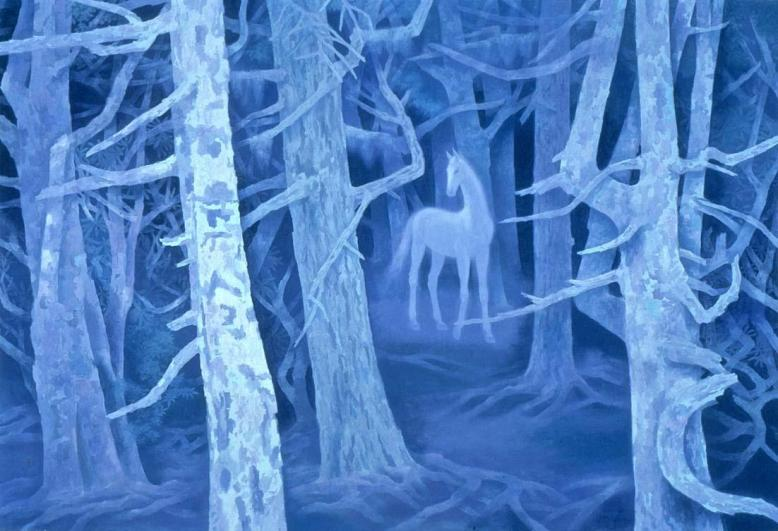 Kaii Higashiyama - Forest with a White Horse