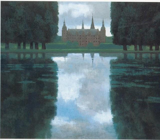 Kaii Higashiyama - View of the Castle at Frederiksborg 1963