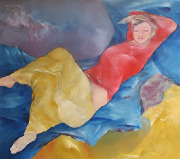 In-a-dream-Oil-on-Canvas-painting-by-Vietnamese-Artist-Pham-Cung